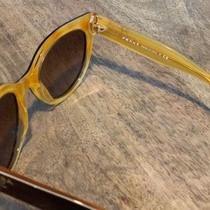 Prada Accessories - Prada Cat-Eye Sunglasses, Tortoise/Gold ✨